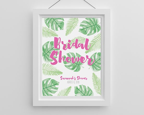 Personalized Pineapples and Palms Poster (18x24)