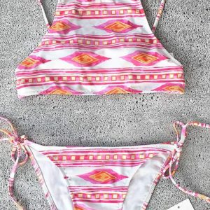 Cupshe Straight to Me Tank Bikini Set