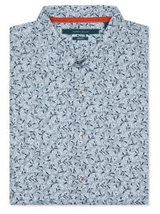 Perry Ellis Short Sleeve Leaf Print Shirt