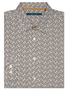 Perry Ellis Mini Floral Print Oxford Shirt