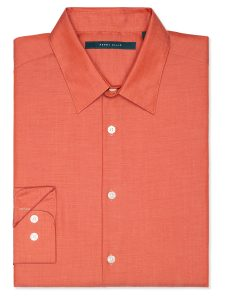 Perry Ellis Long Sleeve Solid Twill Shirt