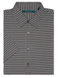 Perry Ellis Short Sleeve Mini Diamond Dot Shirt