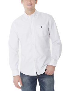 U.S. Polo Assn. Long Sleeve Solid Oxford