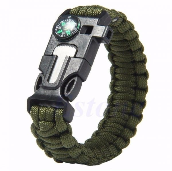 High Quality 5 in 1 Outdoor Survival Gear Escape Paracord Bracelet