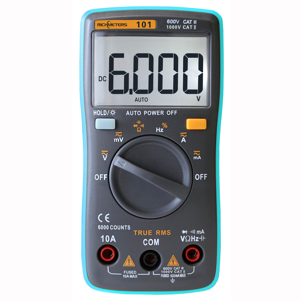 Digital Portable Multimeter 6000 counts Backlight AC/DC