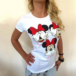 Women's Cartoon Short Sleeve T Shirt