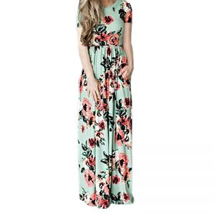 Boho Floral Long Beach Summer SunDress