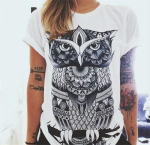 Women's Owl Short Sleeve T Shirt