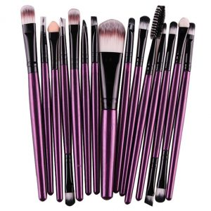 15 pcs Set Eye Shadow Foundation Eyebrow Makeup Brushes