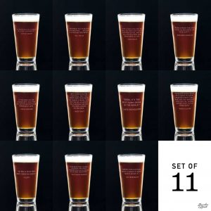 Famous Beer Quotes Personalized Beer Pint Glasses