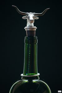 Austin Handcrafted Texas Longhorn Pewter Wine Stopper