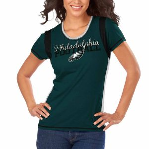 Philadelphia Eagles Majestic Women's Pride Playing V T-Shirt