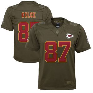 Travis Kelce Chiefs Nike Youth Salute to Service Game Jersey