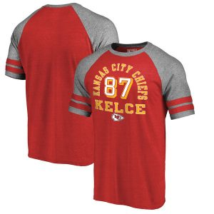 Travis Kelce Kansas City Chiefs NFL Tri-Blend T-Shirt