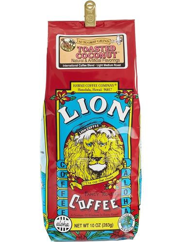 Lion Toasted Coconut Flavored Coffee 10oz