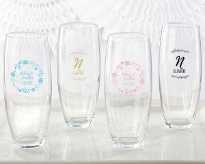 Personalized Ethereal 9 oz. Stemless Champagne Glass