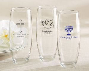 Personalized Stemless Champagne Glass - Religious