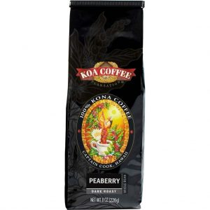 Peaberry Dark Roast Whole Bean Kona Coffee