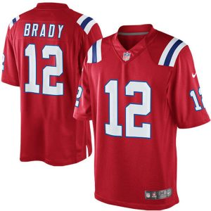 Men's New England Patriots Tom Brady Nike Red Alternate Limited Jersey
