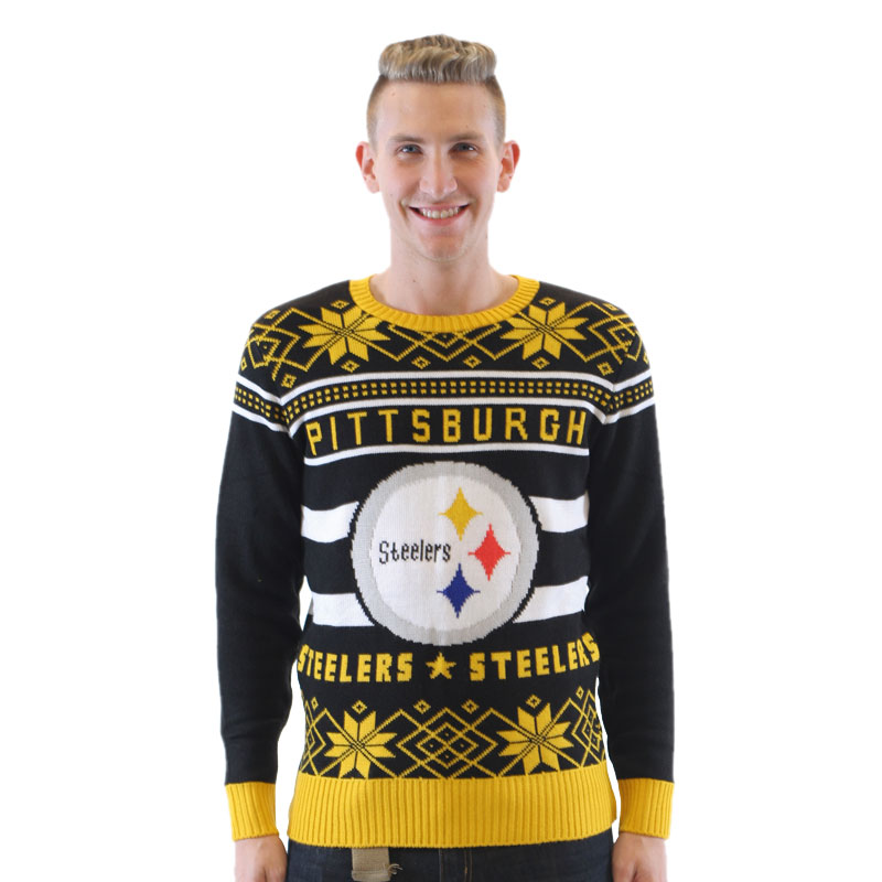 Pittsburgh Steelers Ugly Black Sweater