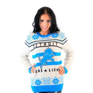 Detroit Lions Ugly Off-White Sweater