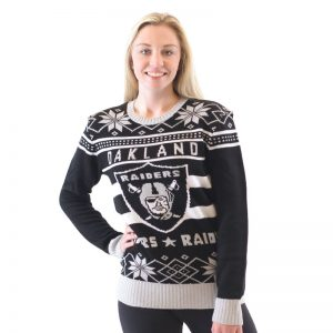 Oakland Raiders Ugly Black Sweater