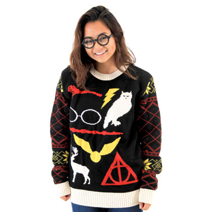 Harry Potter Owl Deathly Hallows Sweater