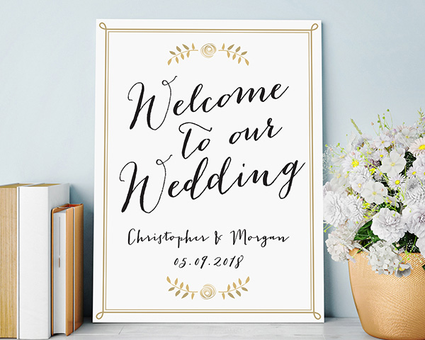 Personalized Wedding Poster (18×24)