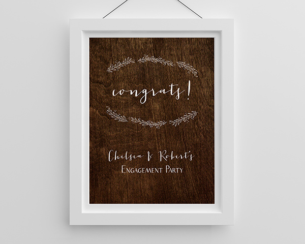 Personalized Rustic Poster (18×24)