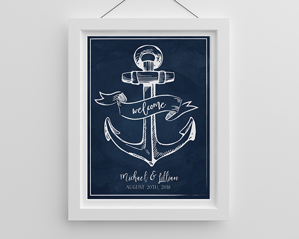 Personalized Nautical Poster (18×24)
