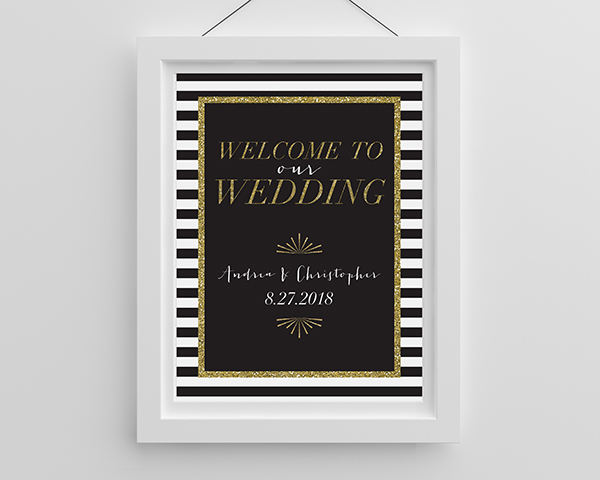 Personalized Classic Wedding Poster (18×24)