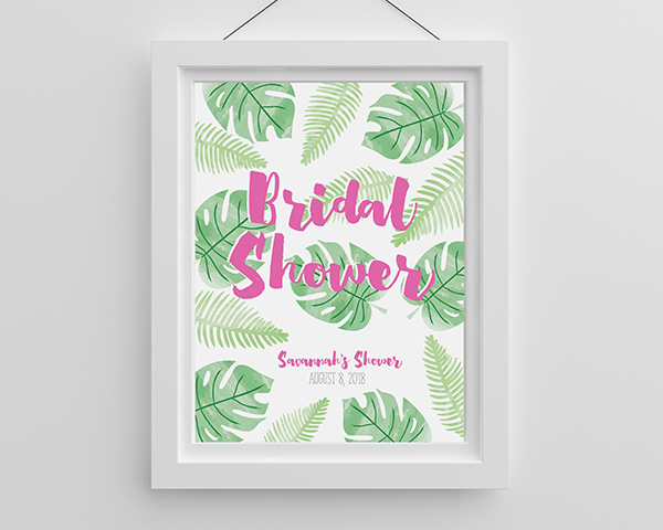 Personalized Pineapples and Palms Poster (18×24)