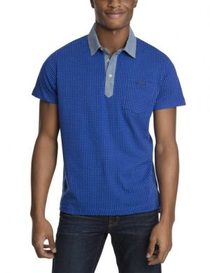 Slim Fit Jersey Dot Printed Polo Shirt