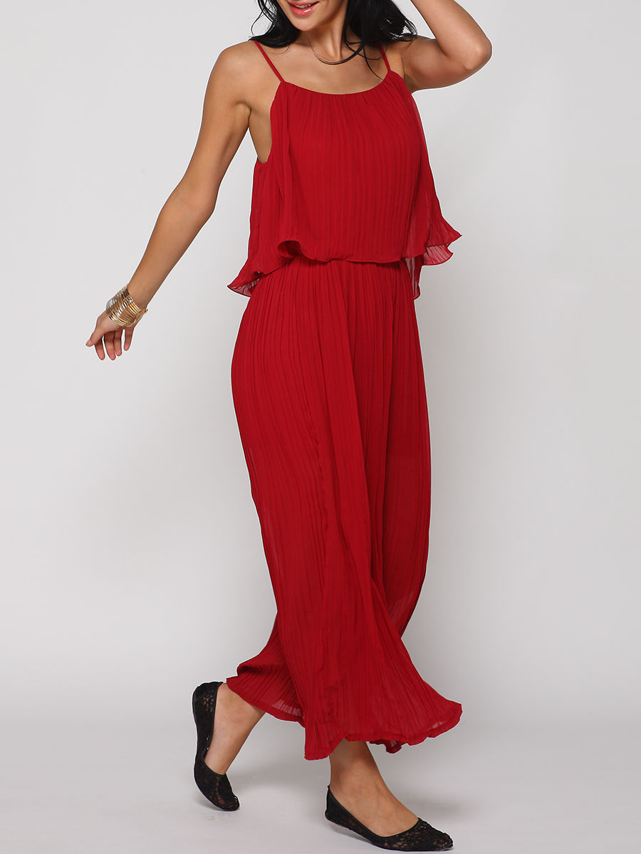 Plain Loose Fitting Jumpsuits
