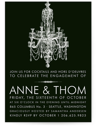 Chandelier Engagement Engagement Party Invitations