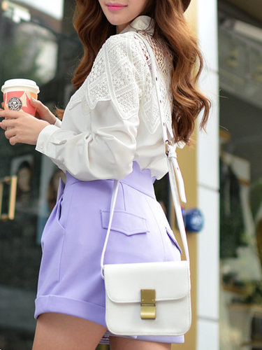 H-line Long Sleeve Floral Casual V Neck Blouse