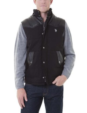 U.S. Polo Assn. Western Canvas Vest Black