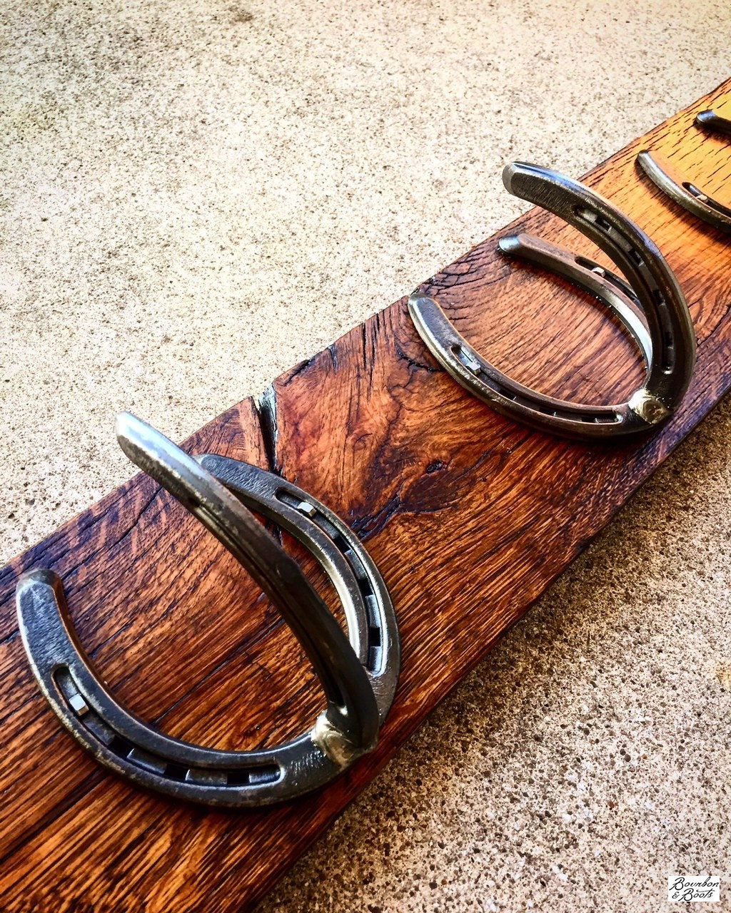 Handmade Reclaimed Barn Horseshoe Coat Rack