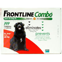 Frontline Plus Extra Large Dogs over 88lbs Red 12 Doses