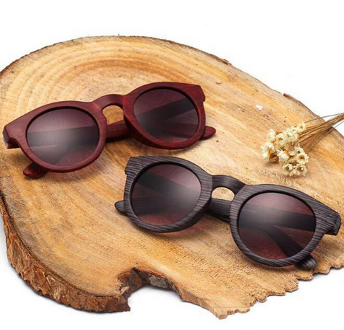 Vintage Unisex Wooden Sunglasses UV400 Polarized