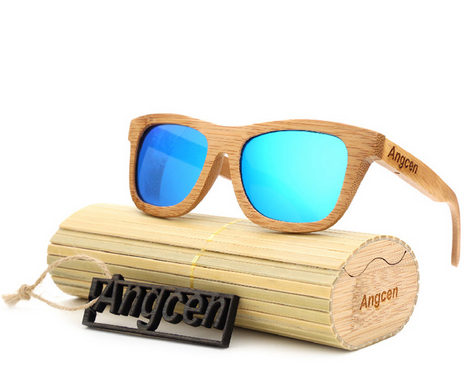 New Bamboo Sunglasses au Retro Vintage Wood Lens
