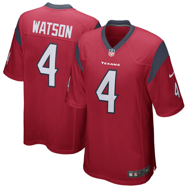 Deshaun Watson Houston Texans Game Jersey Red
