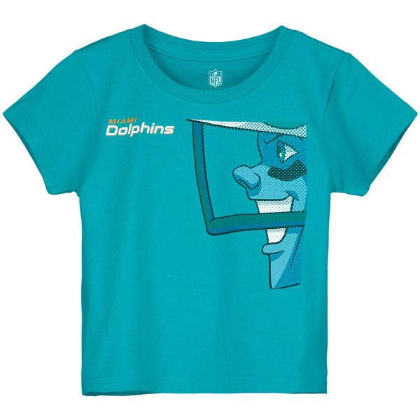 Miami Dolphins Toddler Rush Zone Side Face T-Shirt