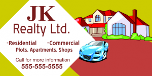 Welcome To JK Real Estate for residential & Commercial Banner