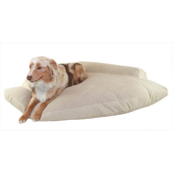 Hidden Valley Khaki and Fleece Corner Pet Bed