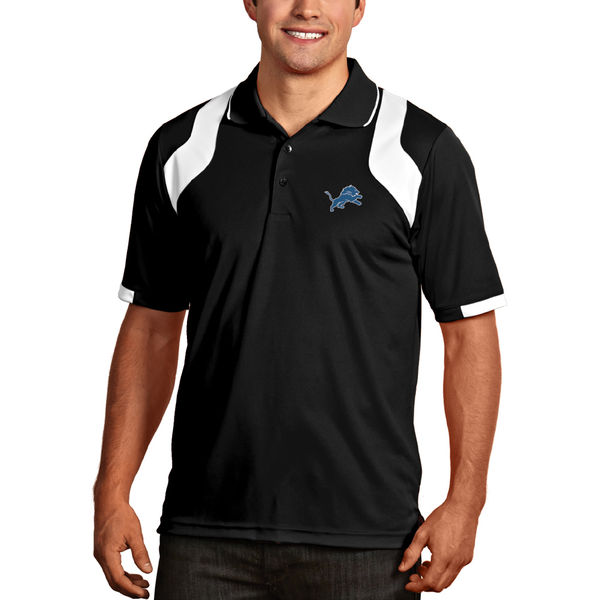 Detroit Lions Antigua Fusion Polo – Black/White