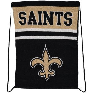 New Orleans Saints Knit Drawstring Backpack