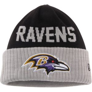 Baltimore Ravens New Era Classic Cover Cuffed Knit Hat