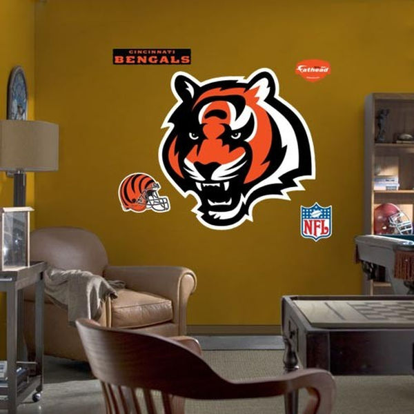 Cincinnati Bengals Team Logo Fathead Wall Sticker