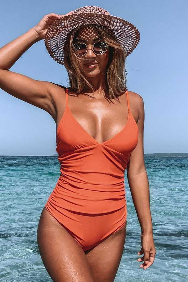 Bright Day Shirring One-Piece Swimsuit